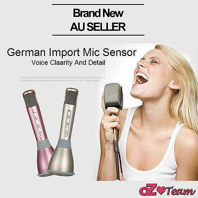 Mini Handheld Karaoke Microphone+Speaker Bluetooth Home KTV Player Iphone