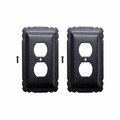 2 Switchplate Black Steel Outlet RSF | Renovators Supply