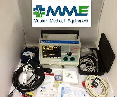 Zoll M Series Biphasic 12L w/ SpO2, NIBP, Pacing, Advisory, ETCO2, CBET Cert