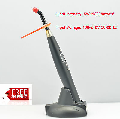 Dental*5W Wireless*Cordless LED/Curing Light Lamp&1500mw Silver for dentist