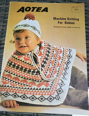 Aotea MACHINE KNITTING for BABIES vintage knitting pattern suit most makes