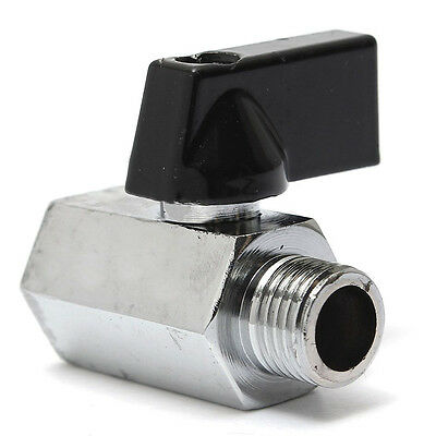 """Unique Reliable Much New 1/4"""" Mini Brass Ball Valve - Solid Chrome Plated NPT"""