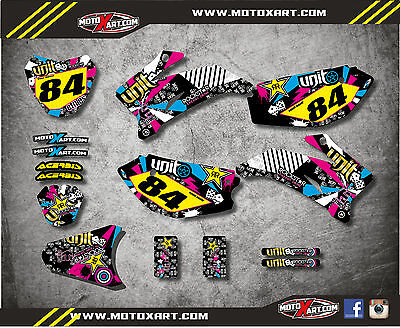 Full Custom Graphic  Kit RUSH STYLE Yamaha TTR 110 - All years - stickers decals