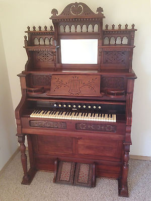 """Remarkable"" 1895 ESTEY VICTORIAN PUMP ORGAN - ""Absolutely Beautiful Instrument"""