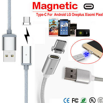 Magnetic USB Charger Fast Cord Sync Data Cable TypeC Micro USB For Android Phone