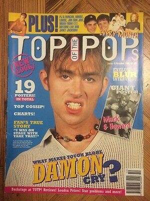 Top of the Pops magazine Oct 1995 Blur Take That Ant n Dec Boyzone