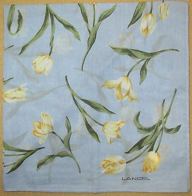 LANCEL *Light-Blue Tulip Handkerchief /JAFSHA*22