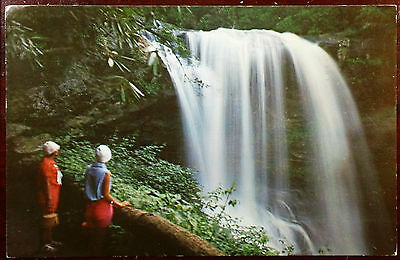 1967 Postcard Dry Falls Upper Cullasaja Falls North Carolina