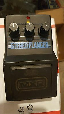80s MXR STEREO FLANGER PEDAL FREE USA SHIPPING RARE ANALOG EFFECT