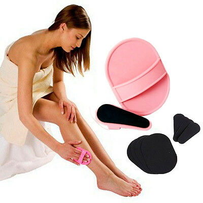 Cute Shiny Legs Hair Removal Pads Smooth Skin Legs Arms Lips Painless Exfoliator