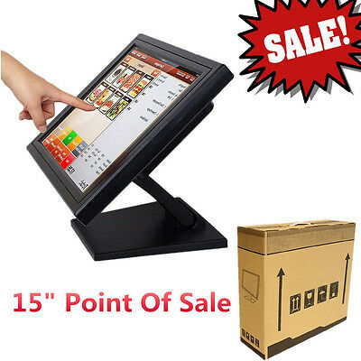 "15"" Touchscreen Monitor TFT  LCD mit USB / Windows 7/8 mit Fuß LED Monitor"