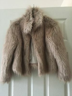 girls fur jacket age 9/10 from next