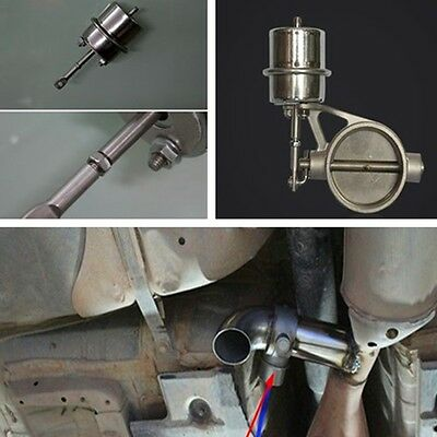 """Exhaust Control Valve with Vacuum Actuator for 2.5"""" 63MM pipe Stainless steel"""