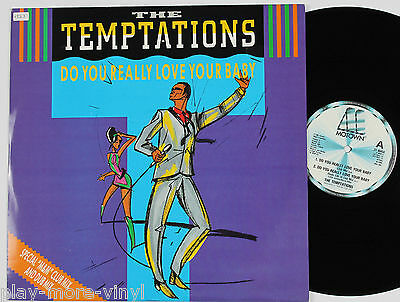 "TEMPTATIONS Do You Really Love Your Baby (Club Mix) 12"" UK 1985 Motown NM vinyl"