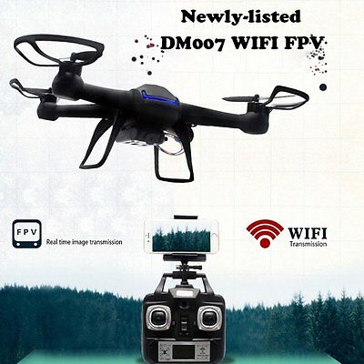 AU DM007W WIFI FPV Quadcopter With Camera 2.4GHz 4CH 6Axis 3D Drone Helicopter