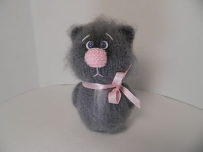 Knitting eco-friendly handmade toy cat animal figurines for children gifts ideas