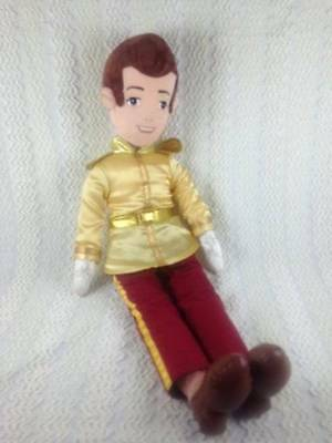 "Disney Store Cinderella's PRINCE CHARMING Soft Plush Doll 22"" Tall Nice RARE"