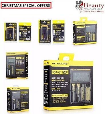 Nitecore Digicharger D4 D2 Intellicharger i4 i2 UM10 UM20 USB Battery Charger AA