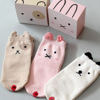 Baby Kids Non-Slip Cute Cartoon Cotton Socks Newborn Toddler Floor Socks 0-3T
