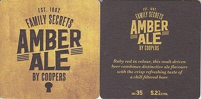 2016 Coopers Brewery Amber Ale Australian issued  Beer Coaster - Beer Mat