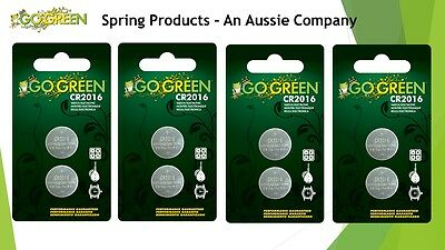 8  Pieces CR2016 3V Lithium Button coin cell NEW from Go Green Batteries ex 2019