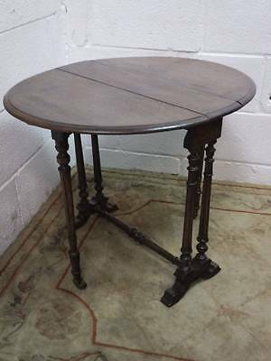 Victorian Mahogany Sutherland, Drop Leaf Occasional Table