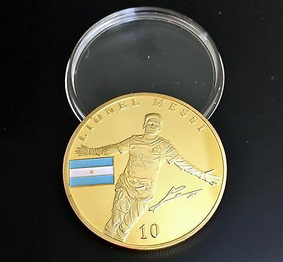 Lionel Messi - FC Barcelona Gold Plated Souvenir Coin