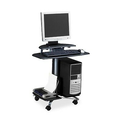 """Mayline Mobile PC Workstation - Rectangle Top - 29.50"""" Height x 28.50"""" Width..."""