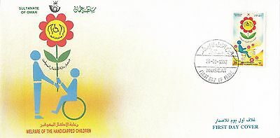 P 2078 Oman First Day Cover; handicapped; 26 September 1992