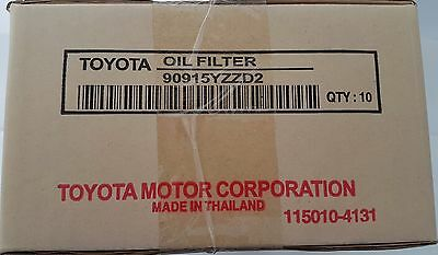 Toyota Genuine Oil Filter 90915-YZZD2 x10 X ref: Z418