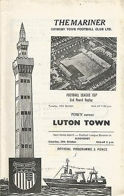 Grimsby Town v Luton Town, 16 October 1973, League Cup + League Football insert