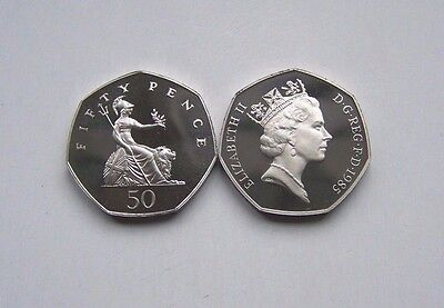 1985 proof Fifty Pence,Brittania
