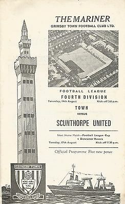 Grimsby Town v Scunthorpe United, 14.8.1971, Division 4 (both clubs promoted)