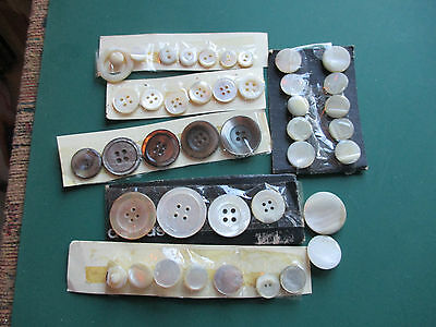 a quantity of mother of old  pearl buttons