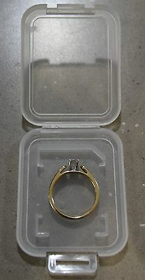 0.20 C.T. Princess Cut Diamond Solitaire Promise Ring w/ Gold Band