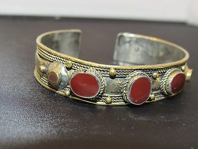 Afghan Jewelry Adjustable Cuff Bangle Bracelet Hand Made Authentic Ethnic
