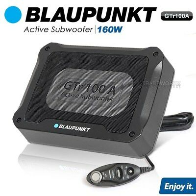 New BLAUPUNKT GTR100A 160W Car Speaker Active Subwoofer With Built In Amplifier