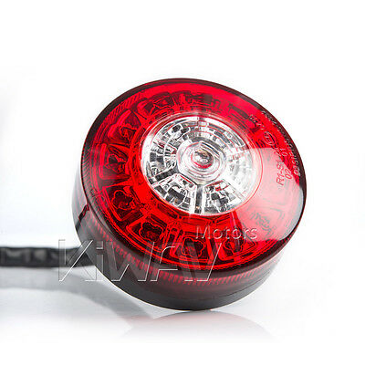 "1PCE 3"" motorcycle LED tail light brake stop turn signal for bobber AU STOCK"