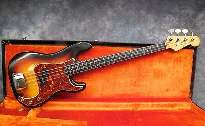 1964 Fender Precision Bass  - Sunburst - Andy Baxter Bass