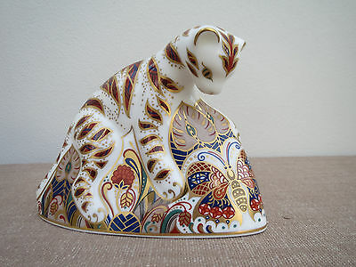 Royal Crown Derby, Bengal Tiger Cub, Retired, Great Condition, Gold Stopper
