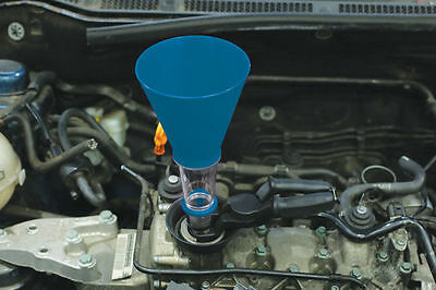 Handsfree Oil Funnel Set With Holding Clamp Funnel In Position While Pouring