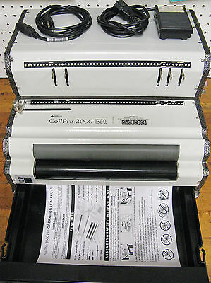 CoilPro 2000 EPI+ Heavy Duty Electric Spiral Coil Binding Machine FREE Shipping!