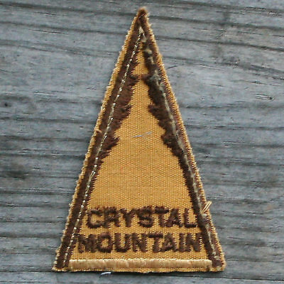 CRYSTAL MOUNTAIN Vintage Ski Patch MICHIGAN Skiing Travel FREE SHIPPING