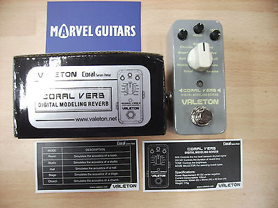 "Valeton Coral Series ""Coral Verb""11x digital reverb electric guitar effect pedal"