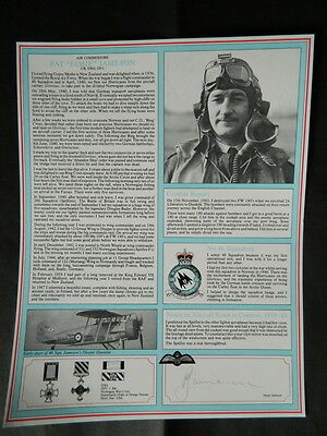 Battle Of Britain Signed Military Gallery Fighter Pilot Profile Pat Jameson