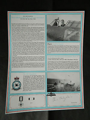 Battle Of Britain Signed Military Gallery Fighter Pilot Profile Foxley-Norris