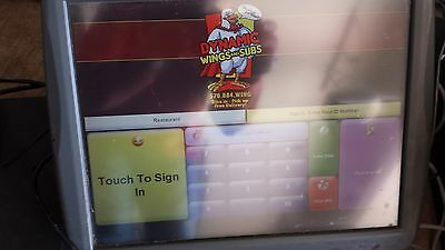 Micros Ws5A Pos Monitor 400814-101 Res3700 Tested & Working Quick Shipping Nice!