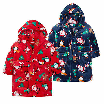 BABYTOWN Childrens Kids Infant Girls Fleece Dressing Gown Robes Super Soft Cosy
