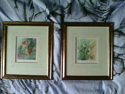 A LOVELY PAIR OF COLLECTABLE SIGNED LTD EDITION PRINTS BY GILLIAN McDONALD