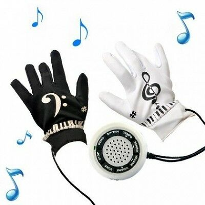 KIKAR Electric Piano Gloves (size Medium) - Great Novelty Gift for Teenagers / A
